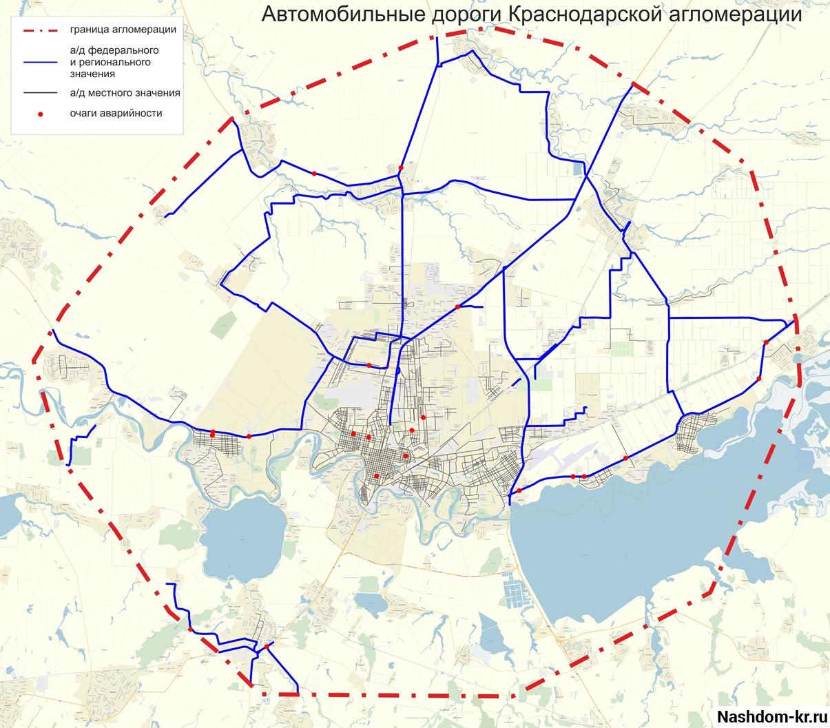 карта агломерации краснодара