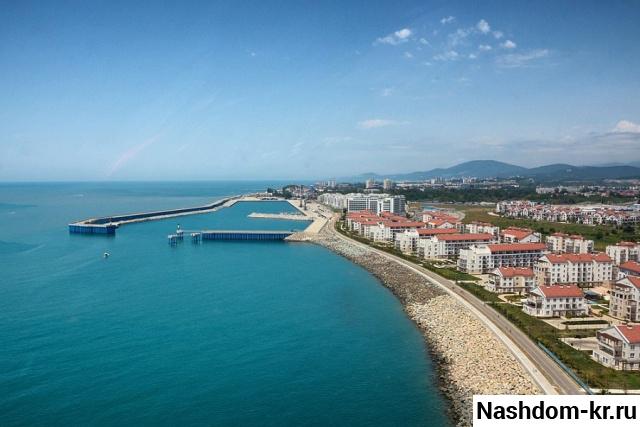 застройка берега черного моря